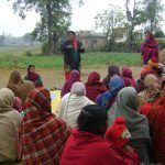 Talking to a group of people regarding formation of Self Help